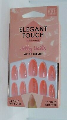 New Elegant Touch False Nails Jelly Nails Coll We Be Jellin'  10 Sizes Stiletto