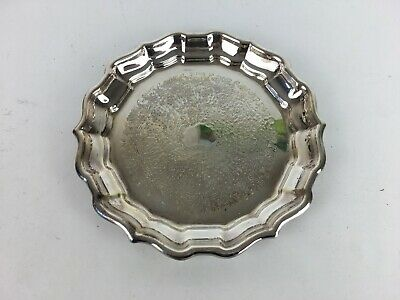 Vintage Engraved Silver Plate? Reed & Barton Inscribed Design Tray