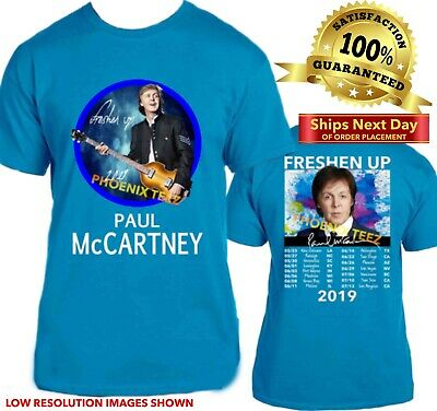 PAUL McCARTNEY T Shirt Freshen Up Concert 2019  on BLUE S - 6X