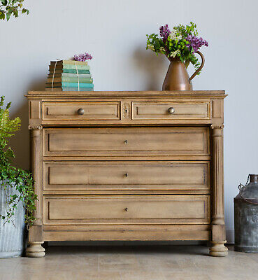 French Antique 19th Century Oak Chest of Drawers