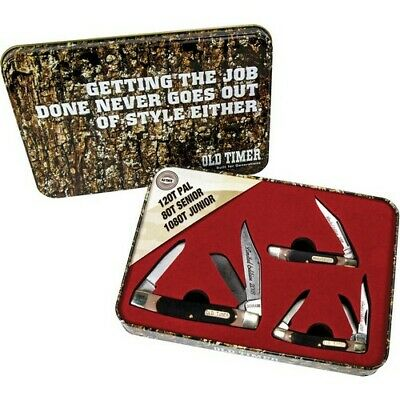 Schrade 1085947 Old Timer Brown Synthetic Handle Knife Gift Set