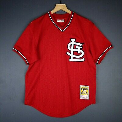 sports shoes 81881 4a7ec 100% AUTHENTIC OZZIE Smith Mitchell & Ness Cardinals BP Jersey Size M 40  Mens