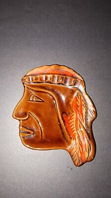 Mcmaster Pottery native indian ashtray vintage