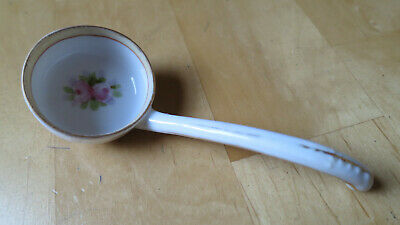 Antique Hand Painted Nippon Rose Flower Jam, Condiment Spoon