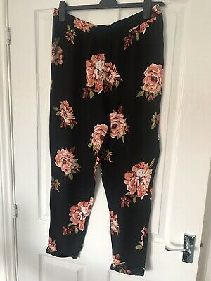 Maternity Trousers Size 12 Floral Dorothy Perkins