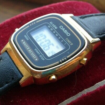 Great Vintage Retro Gold Plated Woman's CASIO LA670WE Digital Watch - WORKING
