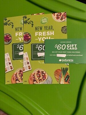 Hello Fresh Gift Cards Lots of 3 $60 SALE!!