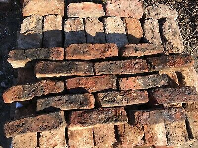 Job Lot Of 168 Very Old Reclaimed Red Lancashire Handmade Bricks