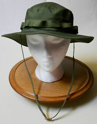 Boonie Hat, Jungle O.d. 50-50 Nyco Ripstop, Mil-Spec., R&B, Sz.  7 1/2(L)  New!