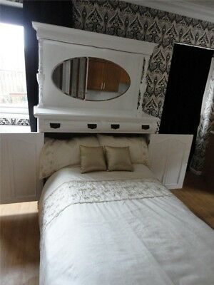 Victorian Art Nouveau sideboard chiffonier with folding guest bed. No mattress