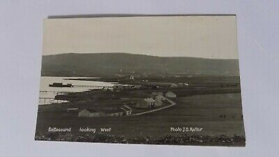 Baltasound looking West Shetland postcard by JD Rattar 1929