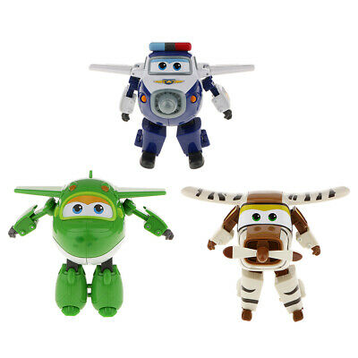 3pcs Large Super Wings Characters Miro Bello Paul Robot Child Animation Toy