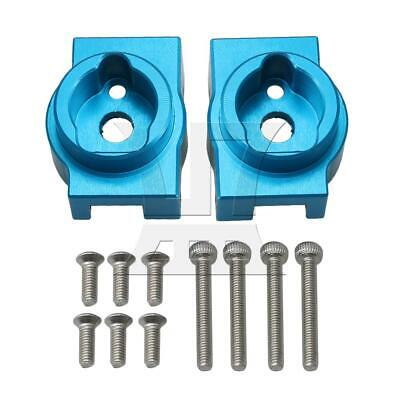 2pcs Aluminum Alloy RC1:10 TRX4013 Rear Caster Block for TRAXXAS Car Blue