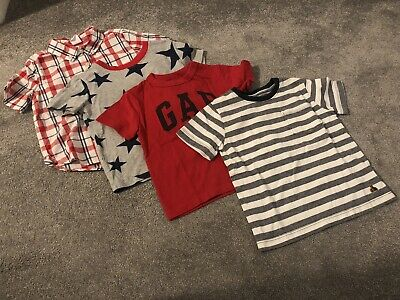 Boys T-Shirt Tops Mixed Clothes Bundle Size Age 18-24 2 Years Baby Gap