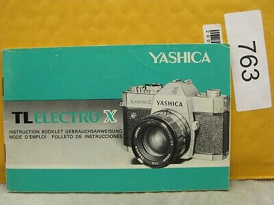 Yashica TL Electro X Original Instruction Manual In English