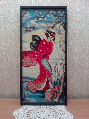 Vintage Japanese Girl Tapestry