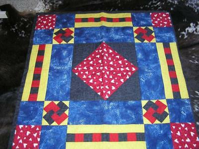 """Handmade Patchwork Quilt Lap Blanket Wall hanging 43"""" x 42"""""""