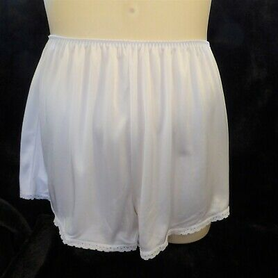White Thick Glossy Charnos Vintage French Knickers Large