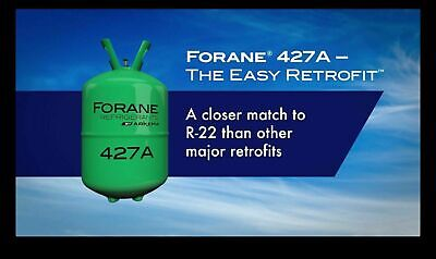 R-427a 25 lb Factory Sealed Virgin Refrigerant Gas, R-22 Replacement