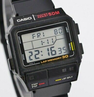 Vintage Mens Casio Digital Quartz Watch SDB-300W MOD.503 JDM Japan F472/115.2