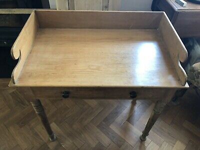 Antique washstand / Table Victorian, pine, drawer, very pretty
