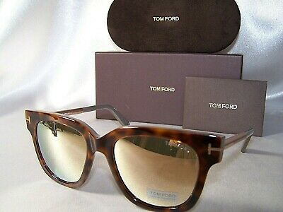 bd3daf19173e New authentic Tom Ford Tracy TF436 56G Havana Gold Gray Suaqre Sunglasses  FT0436