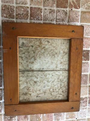 "Antique Wood Picture Frame - Very Unique - 6 3/4"" X 5 3/4"" Mission Style"