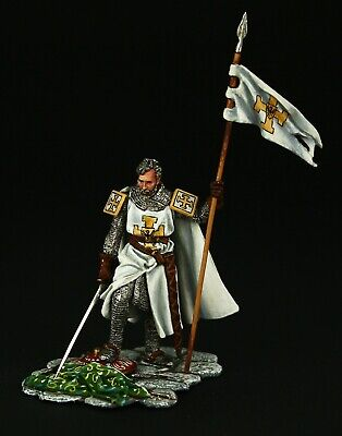 Tin soldier, Collectible, Teutonic Order Knight with Pennant, 54 mm, Medieval