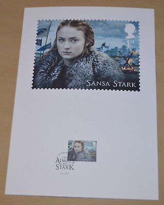 Game of Thrones Royal Mail A4 Souvenir Print Stamp card - Sansa Stark