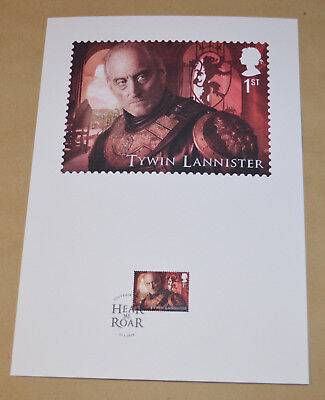 Game of Thrones Royal Mail A4 Souvenir Print Stamp card - Tywin Lannister