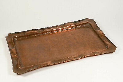 An Arts and Crafts copper tray
