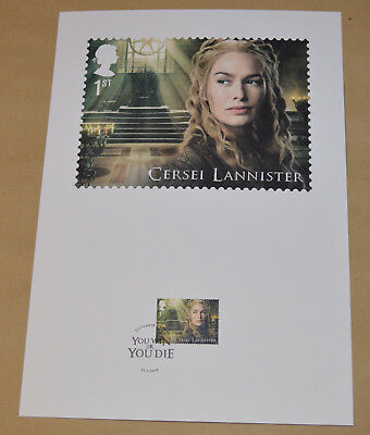 Game of Thrones Royal Mail A4 Souvenir Print Stamp card - Cersei Lannister