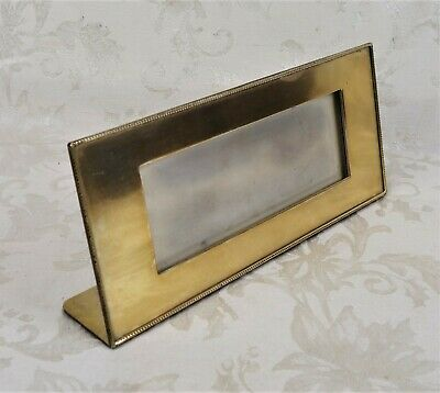 Antique Arts Crafts Silver Crest Bronze Silverplated Picture Frame Shreve Crump