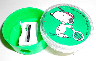 SNOOPY - PEANUTS 80s ufs italy sharpener - canif - temperino TENNIS