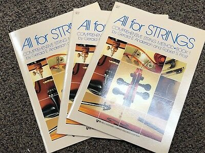 Lot of 3  All for Strings Comprehensive Method Cello Book 1 78CO NEW