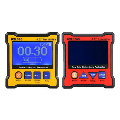 DXL360&DXL360S Digital Protractor Inclinometer Dual Axis Level Box/Pack of 2