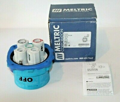 NOS Meltric DS100 Inlet Plug (33-98162) 100A  208VAC  2P+G, Type 4X