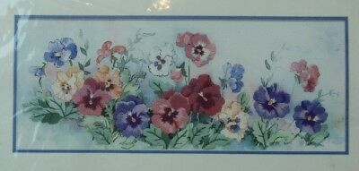 From The Heart Pastel Pansies Crewel Embroidery Kit BRAND NEW SEALED SHP NXT DAY