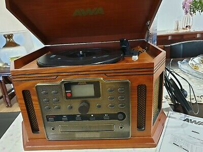 AWA Turntable with Casette,CD Player & Recorder