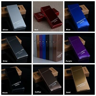 Women Slim Aluminum Metal Cigar Cigarette Box Holder Pocket Tobacco Storage Case