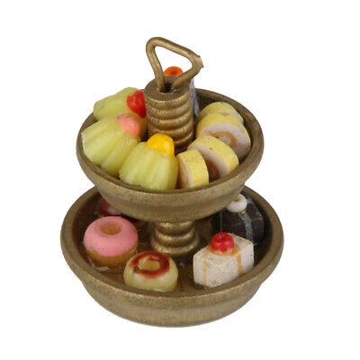1/12 Cake Stand & Bakery Dessert Miniature Food for Doll House Party Favors