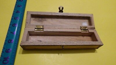 Old VINTAGE ANTIQUE WOODEN Jewellery Trinket BOX Casket Long Slim