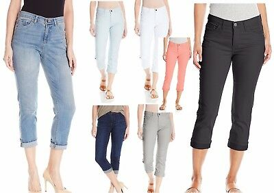 5313d886 Lee Womens Easy Fit Cameron Cuffed Capri Jeans 6 6P 10 12 14 16 18 NEW