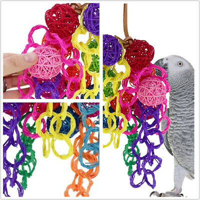 Parrot Pet Bird Chew Hang Toys Wood Rope Cave Ladder Chewing Toy Colorful Hot