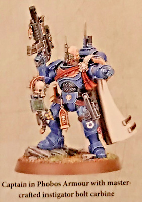 Warhammer 40K Shadowspear Captain Acheran Phobos Armor Kill Teams