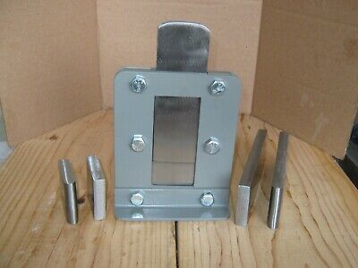 Blacksmith Guillotine Tool w/ 3 Sets of Dies, Flat, Fullering & Blank Free Ship
