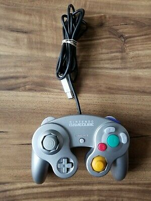 Nintendo Gamecube Official Controller - Platinum / Silver - Tested/Works