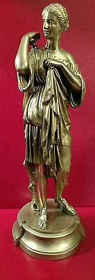 Antique Bronze Statue of, Diana of Gabii Foundry marked, Amazing Detail  Ca 1890