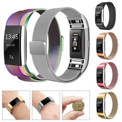For Fitbit Charge 2 Watch Strap Wrist Band Milanese Stainless Steel Classic Band