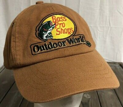 b32188e5a5b9e Bass Pro Shops Outdoor World Hat Tan Adjustable Strap Fishing Great  Condition